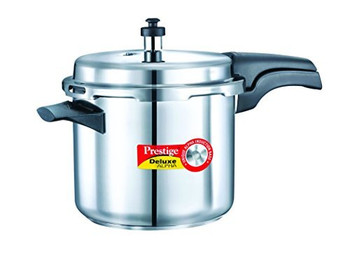 Prestige Deluxe Alpha Stainless Steel Pressure Cooker, 3.5 Litres