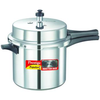 Prestige Popular Plus Induction Base Pressure Cooker, 6 Litres
