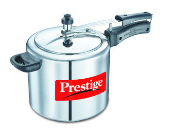 Prestige Nakshatra Plus Aluminium Pressure cooker - 5 Litres - Silver