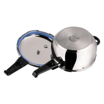Vinod 18/8 Stainless Steel Splendid Plus Pressure Cooker - 6.5 Ltr (Induction Friendly)