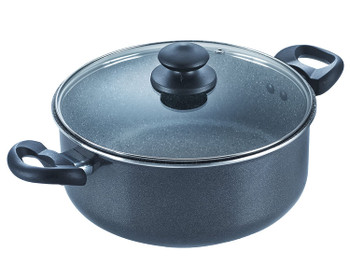 Prestige Omega Deluxe Granite Sauce Pan with Lid, 240mm