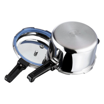 Vinod Platinum Triply Stainless Steel Pressure Cooker - 5 Ltr (Induction Friendly)
