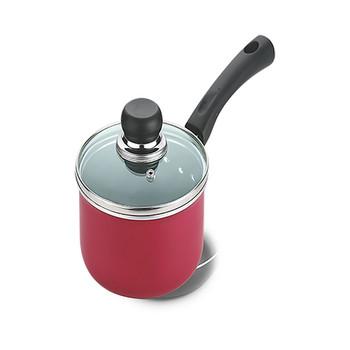 Vinod Zest Non Stick Saucepan With Glass Lid - 14 Cm, 1.4 Ltr (Induction Friendly)
