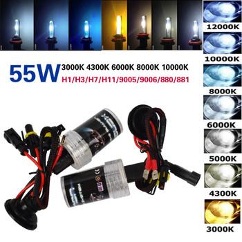 Taitian 2Pcs H11 100W Hid Xenon ballast+55W Xenon Light 12V 3000K xenon h7 h8 bulb yellow h1 bulb H3 Car fog light 9005 9006 hb4