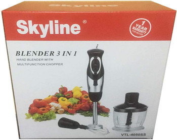 SKY LINE Vtl-4050SS 3-in-1 Stainless Steel Hand Blender with Chopper