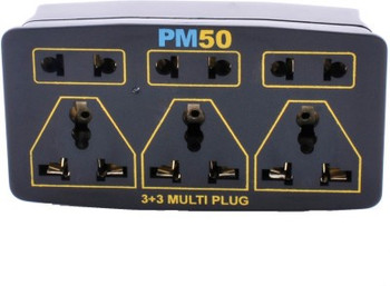 PM50 Multi Plug 6 Socket Surge Protector (Black)