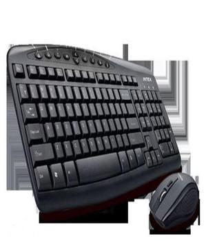 Intex Grace Duo Wireless multimedia Keyboard and Mouse Combo (Black)