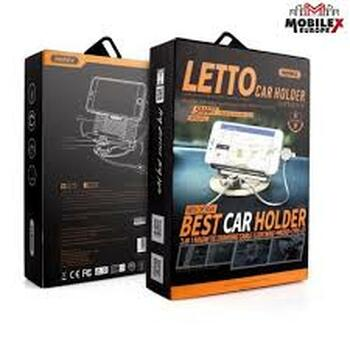 Letto Universal 2.1A 3 in 1 Magnetic Phone Stand Car Charging Holder 3 IN 1 Magnetic Charging Cable (Lightning+Micro+Type-c)Mount-Black