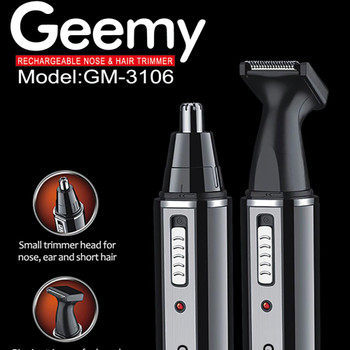 Geemy GM-3106 Nose trimmer Professional Rechargeable Hair trimmer