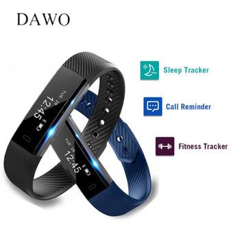 DAWO Fitness Bracelet Smart Band Activity Tracker OLED Screen Pedometer Sleep Monitor Android IOS Smartband PK S2 xiao mi band 2