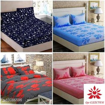 Ravishing Versatile Polyester 90 X 90 Double Bedsheets (4 Sets)