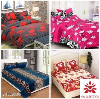 Ravishing Versatile Polyester Queen Size (90X90) Double Bedsheets