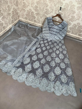 New 2021 Designer Party Wear Gown With Dupatta