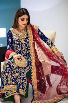 Presenting New 2021 Dress Kurti Palazzo With Dupatta - Blue