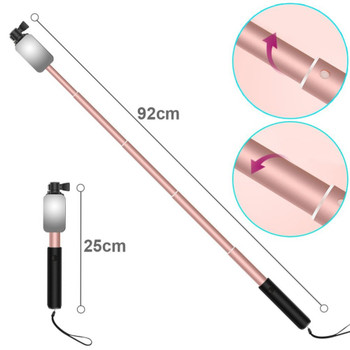 Extendable Handheld Monopod Selfie Stick with Rear Mirror Mini Tripod Self-portrait for iPhone 5 6s plus Samsung S6 S7 S8 XIAOMI