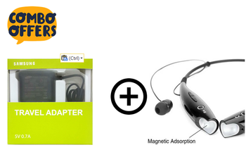 RD SB 94 Bluetooth Headset With Samsung Travel Adapter 5V 0.7A Combo