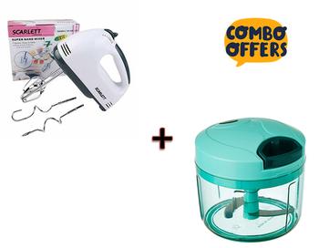 Scarlett super hand mixer 7 speed hand blender With Miracle Big Vegetable Dori Chopper Combo Offer