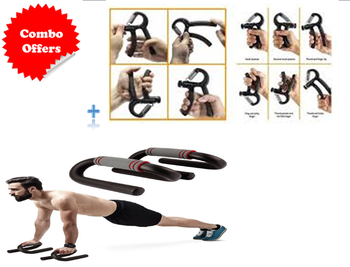 Push-up Bar Stand for Men & Women With JH-W06 Hand Grip Combo Deal