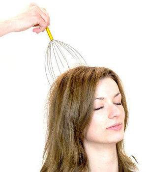 Acupressure Bokoma Hand Held Scalp Head Massager for Pain Relief
