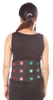 Acupressure 12 magnets Jeans Back & Belly Belt For Stress And Pain Relief Magnetic Slimming Belt (Multicolor)