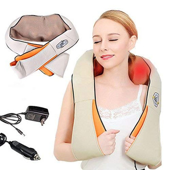 Back and Neck Massager with Heat Deep Kneading Massage for Neck, Back, Shoulder, Legs and Foot, Use at Home, Car, Office