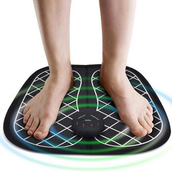 EMS Stimulator Foot Massage Mat | Electric EMS Foot Massager Pad Feet Muscle Stimulator Improve Blood Circulation Relieve Ache Pain for Man and Woman