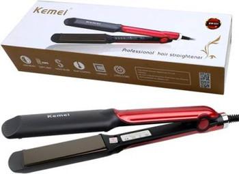 Kemei KM-531 Hair Straightener (Red)