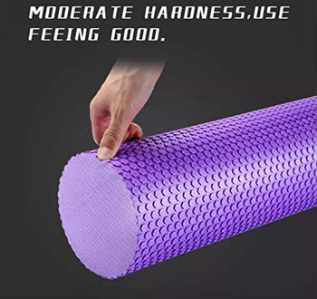 Yoga Foam Roller Speckled Foam Rollers for Muscles Extra Firm High Density for Physical Therapy Exercise Deep Tissue Muscle Massage