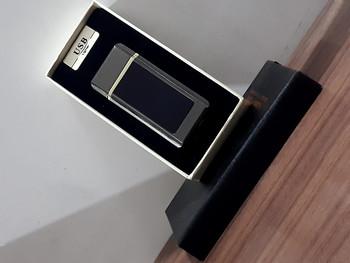 Usb Lighter Fashionable Digital Display Channel Style Lighter