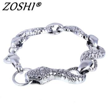 Top Quality Men Bracelet Bangle 316L Stainless Steel Snake Jewelry Vintage Punk Charms Bracelets & Bangle Women Jewelry