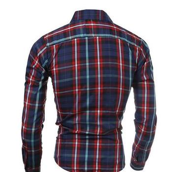 Plaid shirts men dress shirts Spring 2016 new classic men's casual long-sleeved plaid shirt