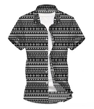 Printed Casual Shirt New Fashion Short Sleeve Loose Beach Wind Flower Shirt Mens Summer Desinger