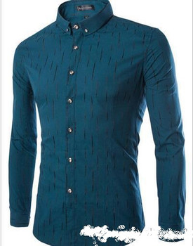 2016 spring new dress shirts high-grade fabrics Korean men Slim fit shirts fashion business casual long-sleeved shirt