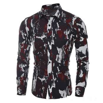 Camouflage Slim men's casual slim fit shirts Jungle Outdoor Series men's casual long-sleeved shirt