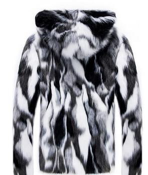 Plus size 3XL Faux Fur Men Parkas Fashion High Street Plush liner thickening Hooded winter jacket men casaco masculino