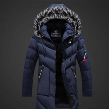 Jacket Luxury Faux Fur Collar Mens Coats Mens Designer Solid Parkas Fashion Thick Plus Size Winter