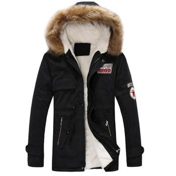 2018 new parkas Mens Autumn Winter Zipper Long Cotton Jacket Men Hooded Coat fashion 3 colors Windbreaker Male Coat