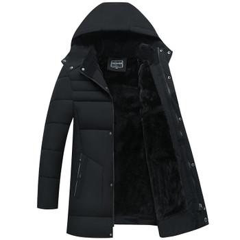 Winter Clothes Parkas Jacket Men Long Thicken Warm Parkas Hooded Fleece Jackets Outwear Cotton Coat Padded Parka Coat