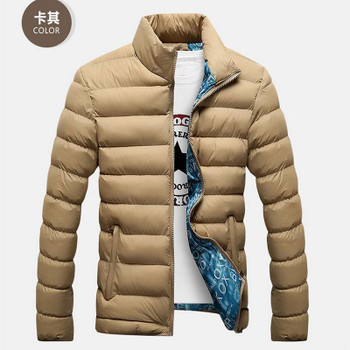 Men's Down & Parkas 2021 Winter Jacket Men Fashion Stand Collar Male Parka Mens Solid Thick Jackets And Coats Man M-6XL