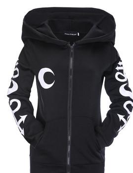 Fashion trend street print s fashion trend street print zipper guard coat print sports coat casual wear cap