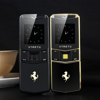 Luxury Golden Metal Body Slider Cell Phone Dual Sim Card Bluetooth Dialer MP3 Vibration Mobile Phone With Camera FM 8800 Cellphone