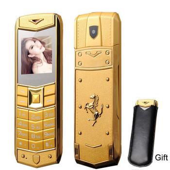 Unlocked super luxury mobile phone for man Women Dual sim card Mp3 Camera metal frame stainless steel cheap cell phone free case