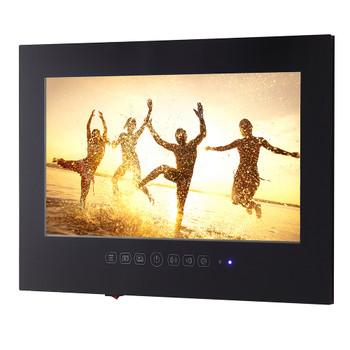 Souria 1080P Full HD 27 inch WiFi Android Smart Waterproof bathroom TV Black/White ip66 Glass Panel