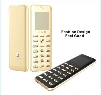 Original Geecoo Smart 1 Luxury Cell Phone Super Mini Ultrathin Card phone with MP3 Bluetooth 1.54inch Bluetooth 2.0 Dialer mobile cellphones