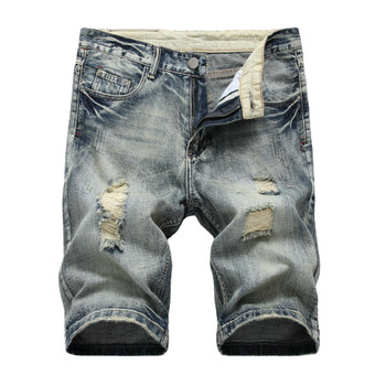 New Design Destroyed Jeans Distressed Men s Work Pants Ripped Short Distressed Short Pants Jeans Pants for Man
