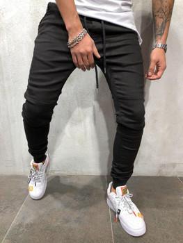 Men Casual Sports Jogger Jeans Spring Elastic Waist Athletic Pantalones Trousers