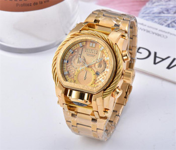 Man Leisure Time Hollow Out Phase Of The Moon Carving Hollow Out Automatic Mechanics Wrist Watch