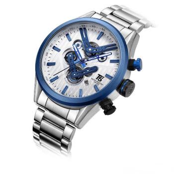 Luxury ocysa business fashion mens mechanical autoamtic movement tourbillon wristwatches Stainless steel watch case Leather Starps watches