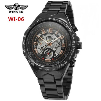 Very popular men's mechanical watches automatic hollow sports watch does not fade durable high quality business watches