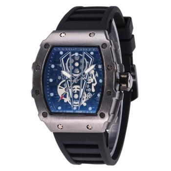 Men Skull sport quartz watch Hot sell New men's A Ghost head hollow Luxury Good Fashion Skeleton watches